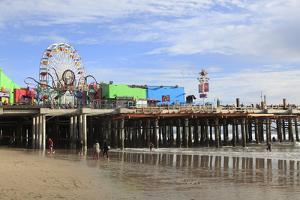 Santa Monica Pier, Pacific Park, Santa Monica, Los Angeles, California, Usa by Wendy Connett