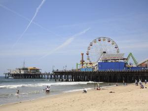 Santa Monica Pier, Santa Monica, Los Angeles, California, United States of America, North America by Wendy Connett