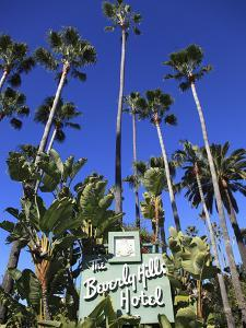Sign for Beverly Hills Hotel, Beverly Hills, Los Angeles, California, Usa by Wendy Connett