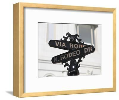 Street Sign, Rodeo Drive, Beverly Hills, Los Angeles, California, Usa