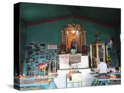 Temple of San Simon, also known as Maximon, Patron Saint of Gamblers and Drunks, San Andres Itzapa