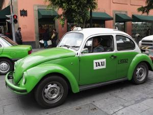 Volkswagen Taxi Cab, Mexico City, Mexico, North America by Wendy Connett
