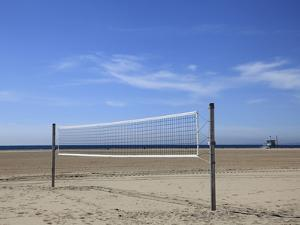 Volleyball Net, Santa Monica, Los Angeles, California, United States of America, North America by Wendy Connett