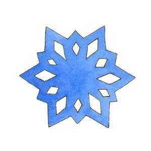 Blue Snowflake 1 by Wendy Edelson