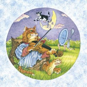Cat Fiddle Cow Jumping over Moon Plate Running Away with a Spoon by Wendy Edelson
