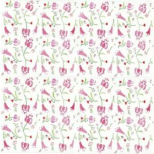 Pink Flowers Pattern by Wendy Edelson