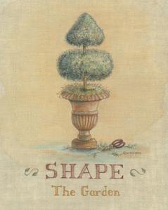 Garden Series in Linen II by Wendy Russell