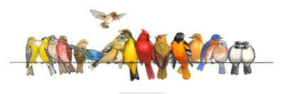 Large Bird Menagerie by Wendy Russell