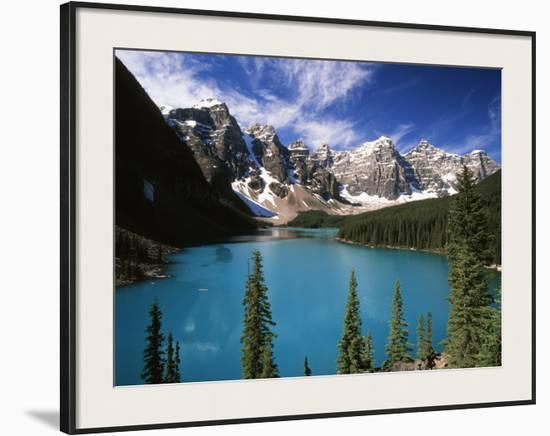 Wenkchemna Peaks Reflected In Moraine Lake Banff National Park Alberta Canada Framed Photographic Print By Adam Jones Art Com