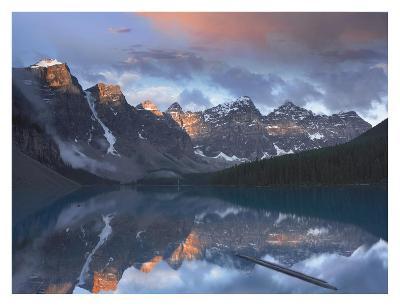 Wenkchemna Peaks reflected in Moraine Lake, Valley of Ten Peaks, Banff, Canada-Tim Fitzharris-Art Print