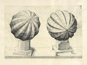 Illustration Of Sculpture. Geometric Designs Illustrating Euclidian Principles Of Geometry. by Wenzel Jamnitzer