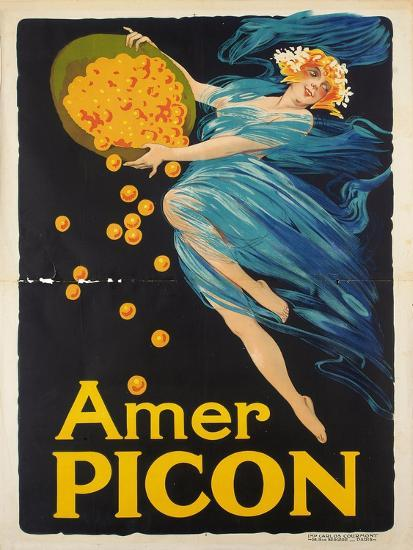 Werbeplakat für den Aperitif Amer Picon. Gedruckt von Carlos Courmont, Paris--Giclee Print