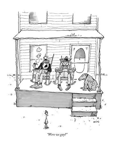 """Were we gay?"" - New Yorker Cartoon-George Booth-Premium Giclee Print"