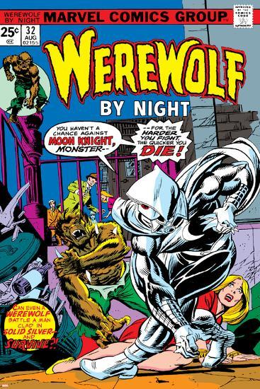 Werewolf By Night No.32 Cover: Moon Knight and Werewolf By Night-Don Perlin-Poster