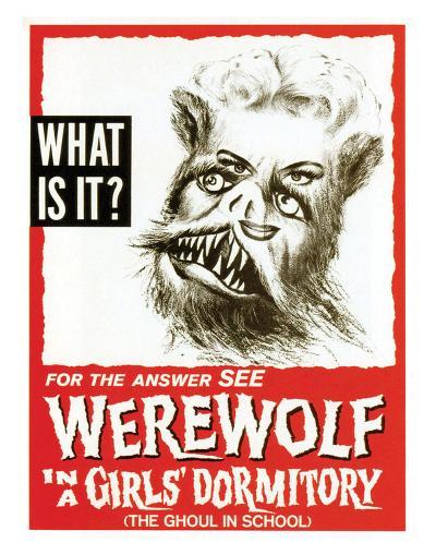 Werewolf In A Girls' Dormitory - 1961--Giclee Print
