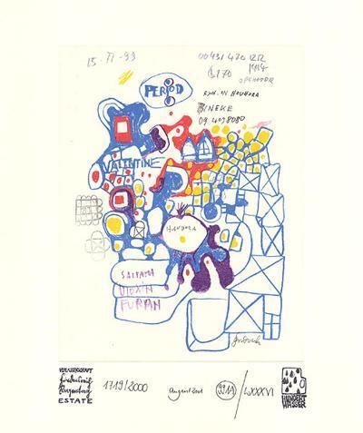 Werkverzeichnis mit Grafik A-Friedensreich Hundertwasser-Collectable Print