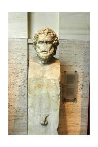 A Herm statue possibly of the Greek philosopher Solon by Werner Forman