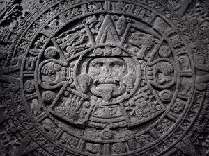 Aztec calendar stone, Mexico, Late Postclassic period, c1200-1521 by Werner Forman