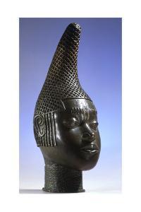 Brass head of Idia, mother of Oba Esigie, Benin, Nigeria, 16th century by Werner Forman