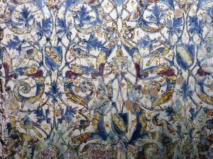 Ceramic tile, probably from the Alhambra, Granada, Spain, 14th century by Werner Forman