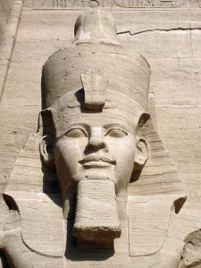 Colossal statue of Rameses II, Temple of Rameses II, Abu Simbel, Egypt by Werner Forman
