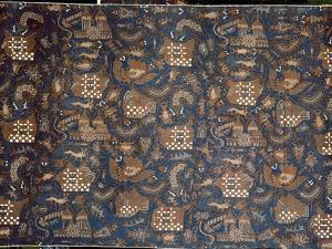 Detail of a batik kain by Werner Forman