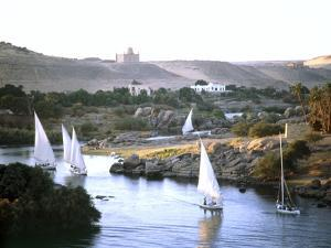 Feluccas on the Nile near the island of Philae, Egypt by Werner Forman