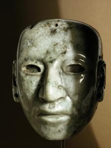 Jade head, Aztec, Mexico by Werner Forman