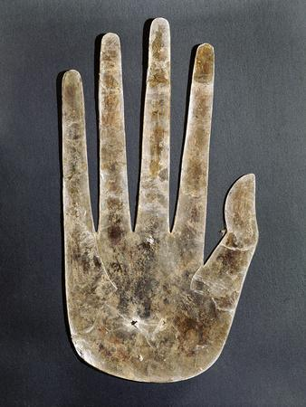 Mica hand, Native American, Hopewell culture, from Ohio, 300 BC - 500