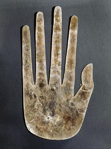 Mica hand, Native American, Hopewell culture, from Ohio, 300 BC - 500 by Werner Forman