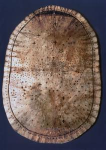 Pawnee buckskin chart of the night sky by Werner Forman