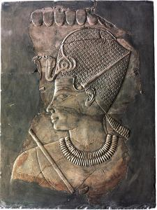 Relief depicting the Pharaoh Amenhotep III, Ancient Egyptian, 18th dynasty, c1390-1352 BC by Werner Forman