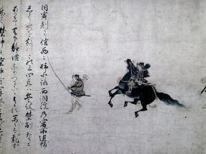 Scroll depicting the samurai Minamoto Yoshitomo, Japanese, Kamakura period, 1185-1333 by Werner Forman