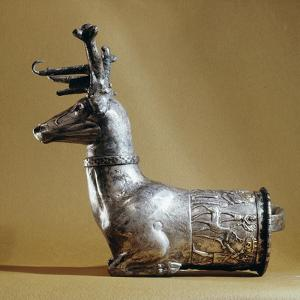 Silver rhyton in the form of a stag, Hittite, Turkey, c1400-1200 BC by Werner Forman