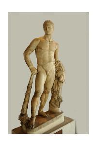 Statue of Hercules. Culture: Roman. Place of Origin: Rome. Period/ Date: 2nd C AD by Werner Forman