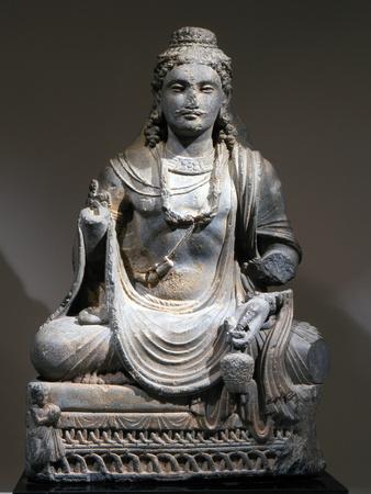 Statue of Maitreya, the Buddha of the Future, from Gandhara, Kushan period, 2nd-3rd century