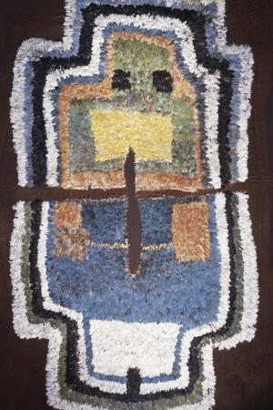 Textile with geometric design, possibly used during ceremonial processions, South America