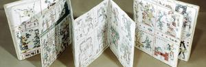 The Codex Fejervary-Mayer shown partially unfolded, Mixtec, Mexico, pre 1521 by Werner Forman