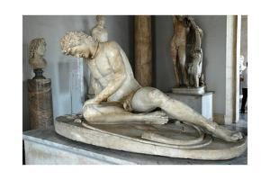 The Dying Gaul (Galatian) also called the Dying Gladiator by Werner Forman