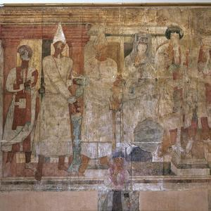 The 'Fresco of Conon' from the temple of Dura Europos, Syria, late 1st century AD by Werner Forman