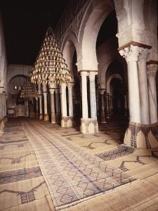 The interior of the Great Mosque at Kairouan by Werner Forman