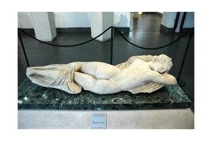 The Sleeping Hermaphroditus. The form of the statue is based on portrayals of Venus by Werner Forman