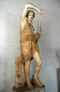 The Wounded Amazon, Roman copy of a Greek original by Phidias. Culture: Roman by Werner Forman