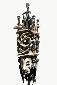 White faced wooden Igbo mask, Aguleri/Umuleri region, south-eastern Nigeria, 20th century by Werner Forman