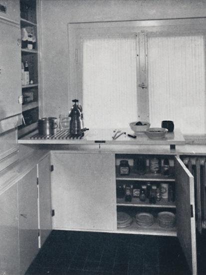 Werner Harting - Kitchen with a black Dutch tiled floor-Unknown-Photographic Print