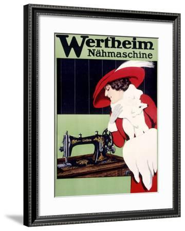Wertheim Sewing Machine--Framed Giclee Print