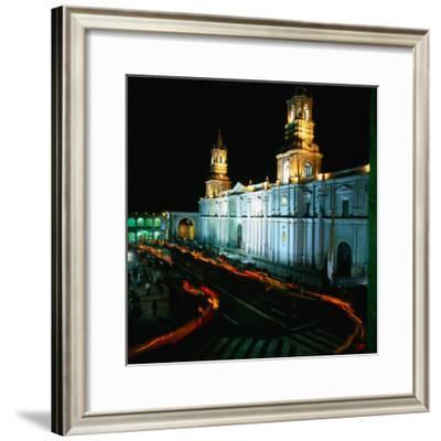 A Candlelit Procession Makes Its Way Around the Plaza De Armas, Lima, Peru
