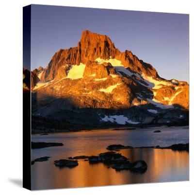 Banner Peak and Thousand Island Lake in the Sierra Nevada Mountains, California, USA