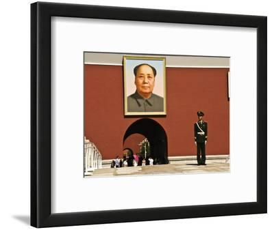 Forbidden City with Mao Portrait and Guard