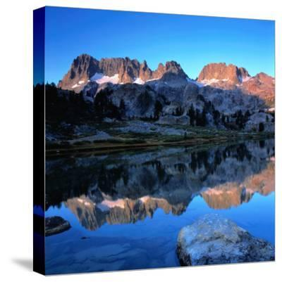 Sierra Nevada Mountains Reflected in Still Lake Waters, Ansel Adams Wilderness Area, USA